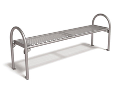 Siesta wire mesh bench without backrest