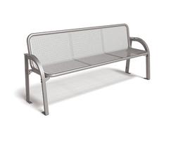 Stella bench in wire mesh