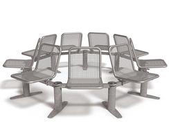 Allegro modular seating in circular configuration