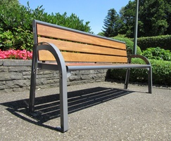 Stella bench with pagwood slats