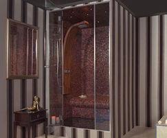 Vetro frameless glass steam shower - Dröm UK
