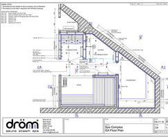 Technical illustration of sauna
