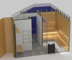 Diagram of bespoke sauna