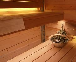 Sauna with Kelo timber walls and ceiling