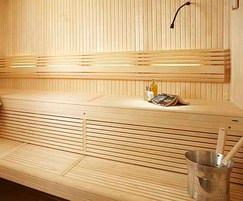 Bespoke sauna with reading light Dröm UK
