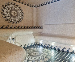 Mosaic tiled steam room for luxury home