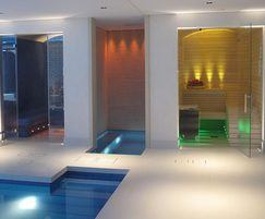 Sauna and steam room for residential spa facility
