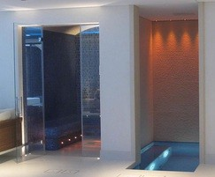 Both rooms are finished with a frameless glass frontage