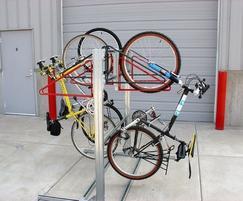 Cycle-Safe wall racks on a framework