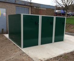 Secure cycle lockers for Reading Borough Council