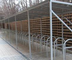 Galvanised mild steel Avon bike shelter