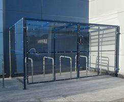 Galvanised mild steel lockable Avon cycle shelter