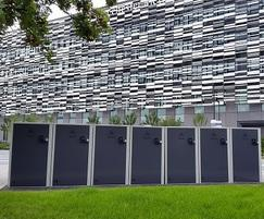 Cycle lockers, Manchester Metropolitan University