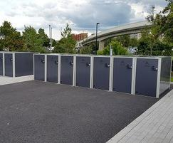 Velo-box cycle lockers at University campus
