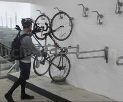 Josta wall rack with cyclist