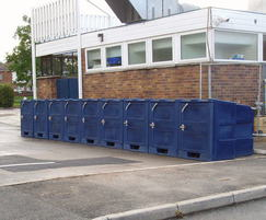 BykeBin lockers at Hilbre High