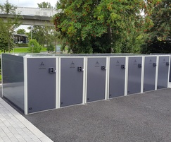 Velo Box lockers at Manchester Metropolitan University