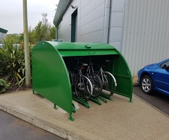 Velo-Store cycle shelter - open