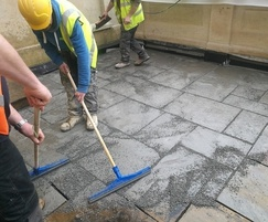 Installing Tuffset G Permeable jointing mortar