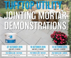 Steintec: tufftop Utility jointing mortar demonstrations - Oct