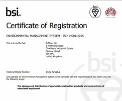 Steintec: Steintec achieve BSI 14001 for Environment Management
