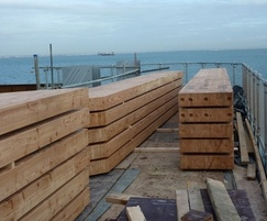 Glulam timbers for RNLI station
