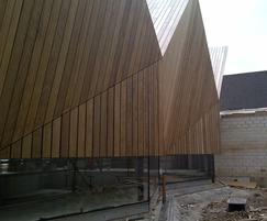 Frake wooden exterior cladding