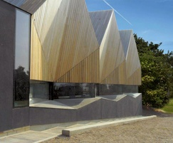 Fire-treated hardwood cladding