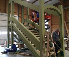 Construction of bespoke timber staircase
