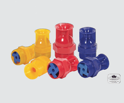 Glass reinforced polyamide spray nozzles