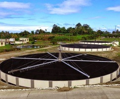 BIOdek used at the Managua wastewater plant, Nicaragua
