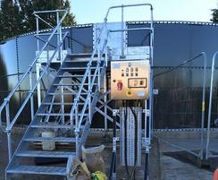 BIOdek trickling filter for municipal sewage wastewater