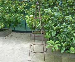 Garden obelisk - 4mm x 25mm steel bar