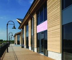 Thermally-treated cladding and decking