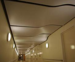 stretch ceiling system for interior design