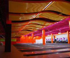 stretch ceiling system for leisure environment- bowling