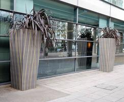 2000mm tall asymmetrical tapered planters