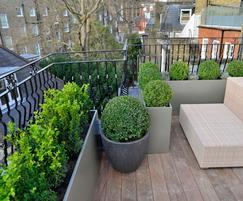 Garden Terrace on the 2nd floor