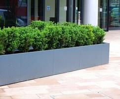 Planters are made from 1.5mm thick galvanised steel