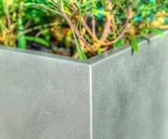 Close-up of raw aluminium finish