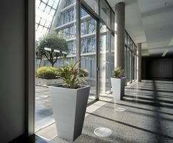 Aluminium Tall Taper planters  850 H x 500mm W (at top)
