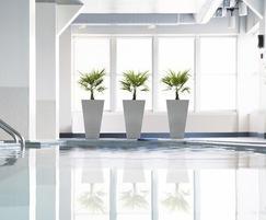 Aluminium Tall Taper planters H 1000 x W 400mm (at top)