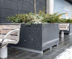 Bespoke natural granite planters