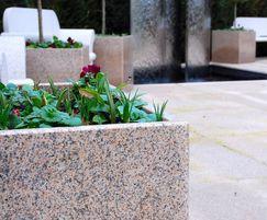 Bespoke natural granite tree planters