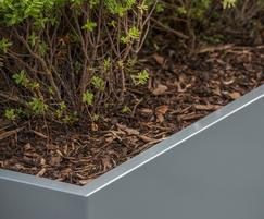 Planters for commercial office landscape, The Soapworks