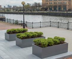 Planters for commercial office landscape, Manchester