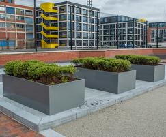 Planters for commercial office landscape, Salford Quays