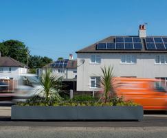 Steel planters, highways improvement scheme, Warrington