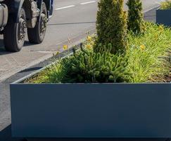 Planters, powder coated to RAL 7012 [Basalt Grey]
