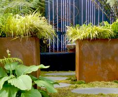 Bespoke corten steel planters